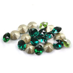 Swarovski 1088 Xirius Chaton Mix Green SS24 Ø5.35mm - 30τεμ