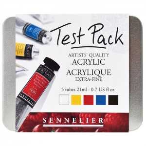 Test Pack Ακρυλικά Sennelier Extra Fine Heavy Body 21ml - 5 Χρώματα