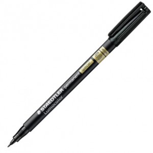 Μαρκαδόρος Ανεξίτηλος Staedtler Lumocolor Permanent Special Super Fine 0.4mm - Black