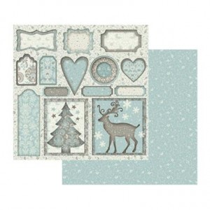 Χαρτί Scrapbooking Stamperia Διπλής Όψης - Christmas Wallpaper - 31x30cm