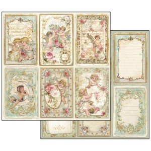 Χαρτί Scrapbooking Stamperia Διπλής Όψης - Angel Cards - 31x30cm