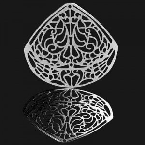 Διακοσμητικό Forever Silver Filigree Teardrop 40x43mm - 1τεμ