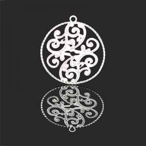 Διακοσμητικό Forever Silver Fiigree Medallion 23mm - 1τεμ