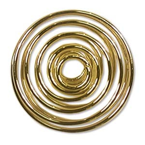 Gold Plated Spiral 20mm - 6τεμ