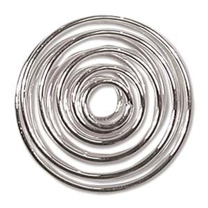 Silver Plated Spiral 20mm - 6τεμ