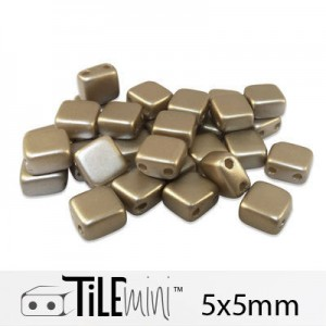 Χάντρα Czech Mini Tile™ - Cocoa Airy Pearl 5x5mm ~30τεμ
