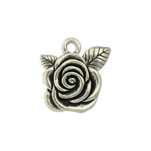Διακοσμητικό Χυτό Pewter - American Beuaty Rose - Antique Silver - 1τεμ