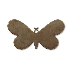 Vintaj Brass Fairy Butterfly 33x18mm