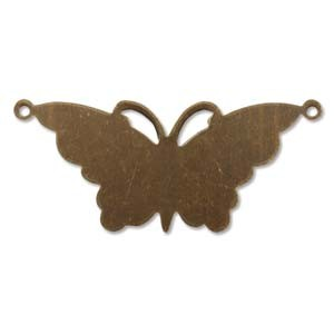 Vintaj Brass Suspended Butterfly 47x21mm