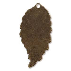 Vintaj Brass Ambrosial Leaf 30x14.5mm