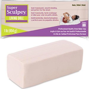 Πηλός Super Sculpey Living Doll - Baby - 454gr