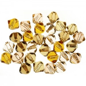 Swarovski 5328 XILION Bicone Flesh Tones Mix 4mm - 30τεμ
