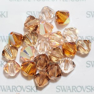 Swarovski 5328 XILION Bicone Flesh Tones Mix 6mm - 20τεμ