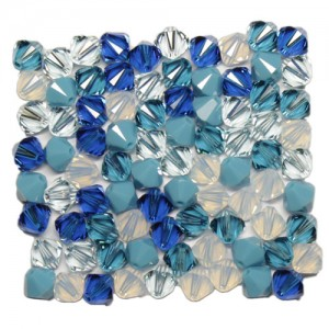 Swarovski 5328 XILION Bicone Blue-Ice Tones Mix6 6mm - 20τεμ