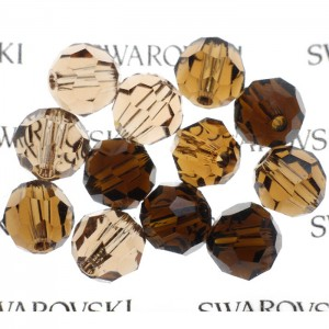 Swarovski 5000 Faceted Round Brown Harmony Mix 6mm - 12τεμ