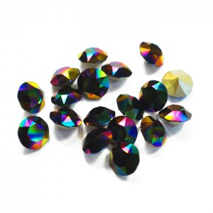 Swarovski 1088 Xirius Chaton Crystal Rainbow Dark SS29 Ø6.23x4mm - 24τεμ