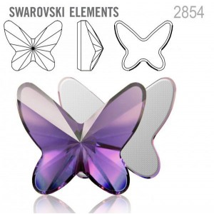Swarovski 2854 Butterfly Light Amethyst 12x10mm - 2τεμ