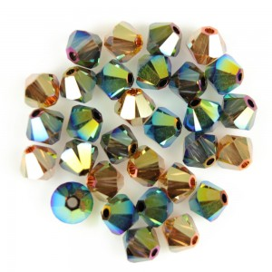 Swarovski 5328 XILION Bicone Luxury Mix No4 AB2X 4mm - 30τεμ