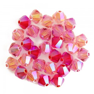 Swarovski 5328 XILION Bicone Luxury Mix Harmony Rose 4mm - 30τεμ