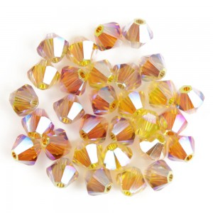 Swarovski 5328 XILION Bicone Luxury Mix No5 AB2X 4mm - 30τεμ