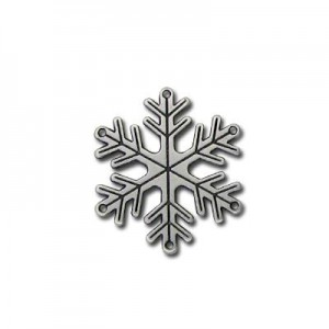 Μεταλλικό Snowflake Silver Antique 25mm - 5τεμ