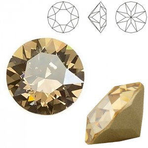 Swarovski 1088 Xirius Chaton Crystal Golden Shadow PP32 Ø4x2.3mm - 50τεμ