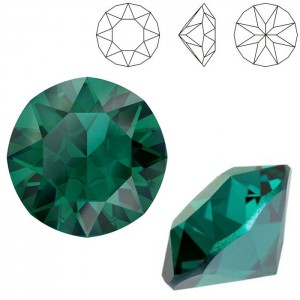 Swarovski 1088 Xirius Chaton Emerald Ignite SS39 Ø8.29x5.1mm - 12τεμ