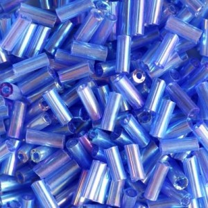 Χάντρα Glass Tubes Rainbow Flower Blue Mix 4.5mm - 20gr