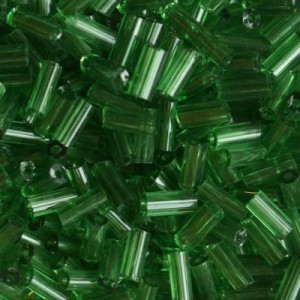 Χάντρα Glass Tubes Clear D.Green 4.5mm - 20gr