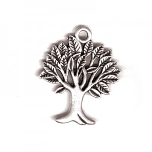 Μεταλλικό Wishtree - Silver Plated - 29x24mm - 3τεμ