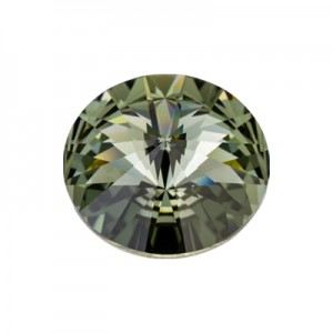 Swarovski 1122 Rivoli Black Diamond Ø12mm - 4τεμ