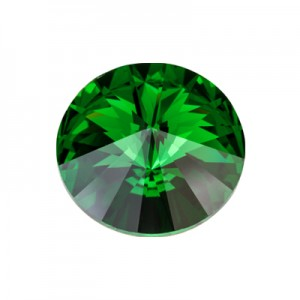 Swarovski 1122 Rivoli Dark Moss Green Ø12mm - 4τεμ