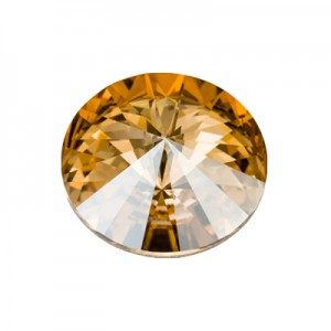 Swarovski 1122 Rivoli Crystal Golden Shadow Ø12mm - 4τεμ