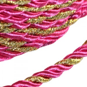 Κορδόνι Twisted Decorative Pink Ø4mm ~5m