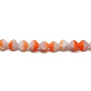 Χάντρα 4side Bicone Mix Orange Colors Mat 6mm ~19τεμ
