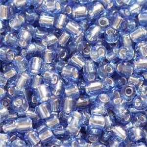 Χάντρα Seed Beads 11/0 - Silver Lined Dark Blue - 20gr