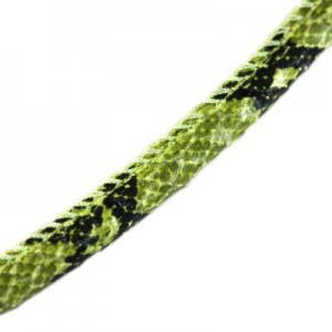 Κορδόνι Eco Snake Skin Leather Green Ø5mm - 2m