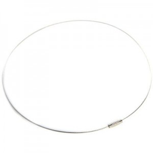 Λαιμαριά Steel Wire Ø1mm Silver Ø14cm - 2τεμ