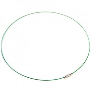 Λαιμαριά Steel Wire Ø1mm Green Ø14cm - 2τεμ