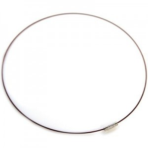 Λαιμαριά Steel Wire Ø1mm Brown Ø14cm - 2τεμ