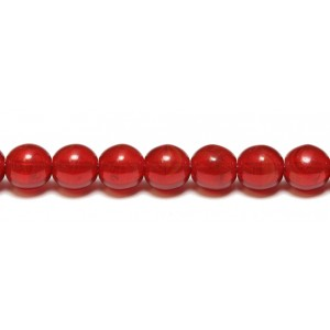 Χάντρα Round 8mm Transparent Cranberry Red ~15τεμ