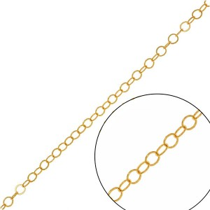Αλυσίδα Cable 1.2mm - 14K Gold Plated - 50cm