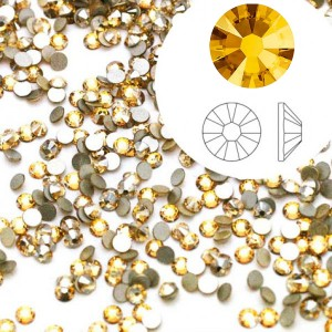 Swarovski 2058 GlueFix XILION Crystal Metallic Sunshine SS5 Ø1.7x0.75mm ~72τεμ