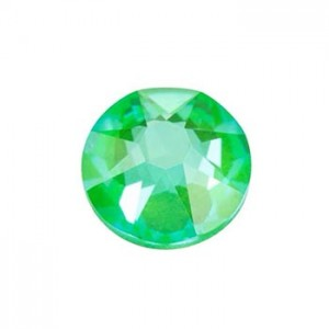 Swarovski 2088 GlueFix XIRIUS Crystal Electric Green DeLite SS30 Ø6.4x3mm ~24τεμ