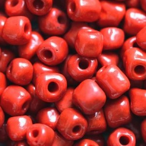 Χάντρα Seed Beads 6/0 - Opaque Fire Brick Red - 20gr