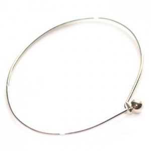 Μπρασελέ Add a Bead 45x65mm Silver Plated - 2τεμ