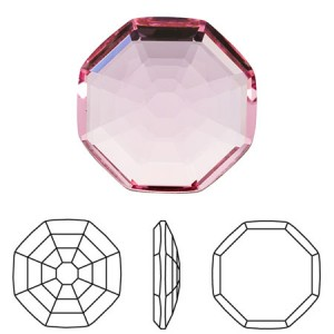 Swarovski 2611 Solaris Crystal Light Rose 10mm - 2τεμ