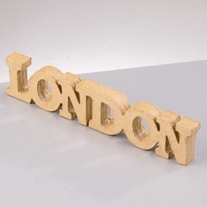 Pappart Logo London 21.7x4x1.5cm