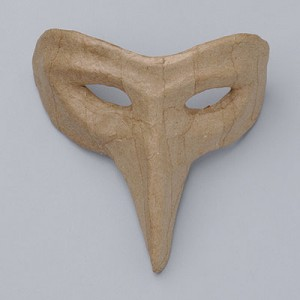 Χαρτονένια Half Mask Medium Bird 14x13x8.5cm