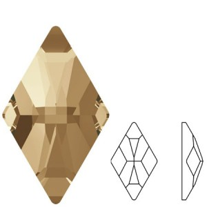 Swarovski 2709 Rhombus Crystal Golden Shadow 10x6mm - 2τεμ